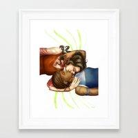 korrasami Framed Art Prints featuring Korrasami by laya rose