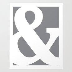 Ampersand slate Art Print