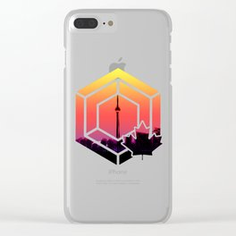 Summer City Skyline Clear iPhone Case