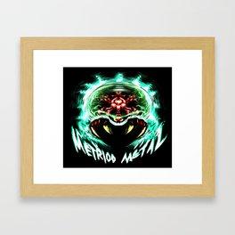 Metroid Metal: Angry Baby Framed Art Print