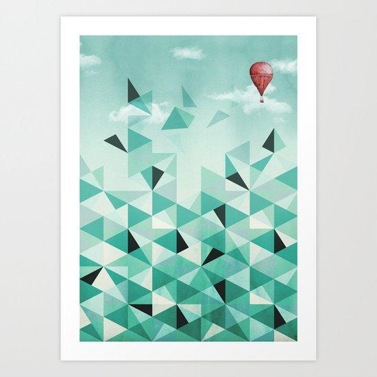 Emerald City (Blue Sky Version) Art Print