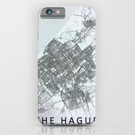 The Hague, Netherlands, White, City, Map iPhone Case