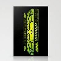 prometheus Stationery Cards featuring Prometheus - David 8 Crew Tag by Chubbybuddhist