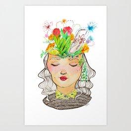 Clutter Brain Art Print
