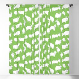 Green Goats Blackout Curtain