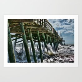 Bogue Inlet Pier Art Print