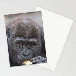Gorilla Baby Having A Snack Stationery Cards