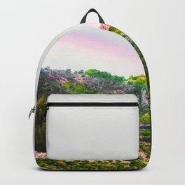 rainbow over the green tropical mountain at Kauai, Hawaii, USA Backpack