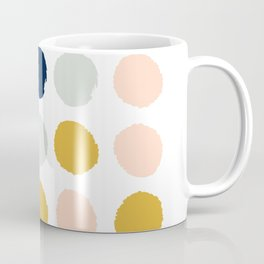Dot minimal trendy color palette gold silver metallic minimal home decor Coffee Mug