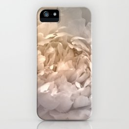 Blushing Silver and Gold Peony - Floral iPhone Case