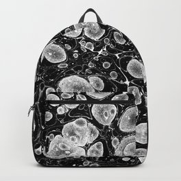 marble paper black and white gifts Backpack