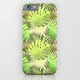 Palm leaves tropical jungle iPhone Case