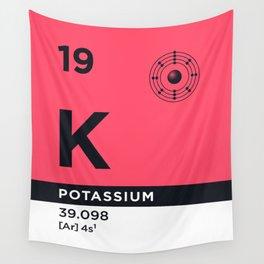 Periodic Element B - 19 Potassium K Wall Tapestry