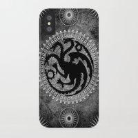 targaryen iPhone & iPod Cases featuring House Targaryen by Micheal Calcara