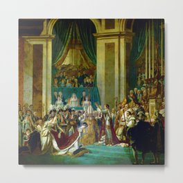 """Jacques-Louis David """"The Coronation of the Napoleon and Joséphine in Notre-Dame Cathedral"""" Metal Print"""