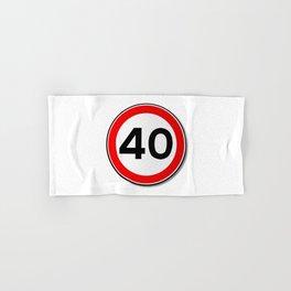 40 MPH Limit Traffic Sign Hand & Bath Towel