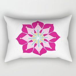 Merrymaking Mandala Rectangular Pillow