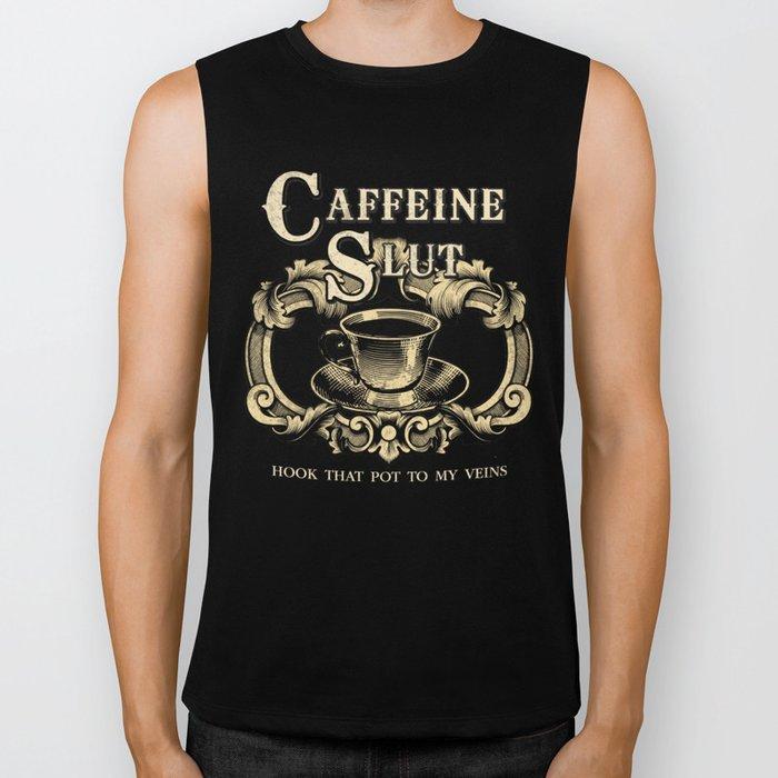 For the love of Caffeine Biker Tank