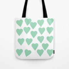 Hearts Mint Tote Bag