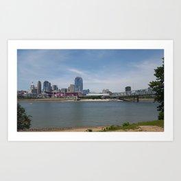 Cincy Skyline Art Print