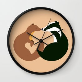 The Pine Marten and the Badger Wall Clock