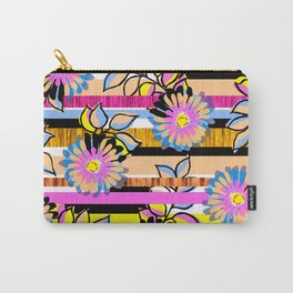 Floral Stripe Carry-All Pouch