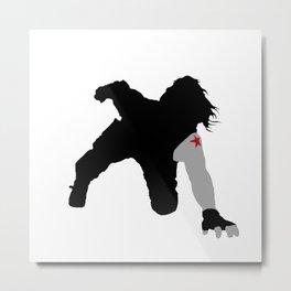 Winter Soldier Car Attack Metal Print