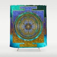 Yantra Mantra Mandala #1 Shower Curtain