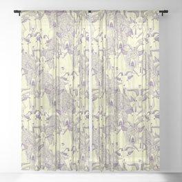 just goats purple cream Sheer Curtain