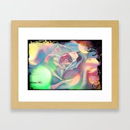 Victoria's Abstract Rose Framed Art Print