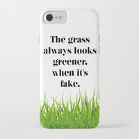 grass iPhone & iPod Cases featuring GRASS by C O R N E L L