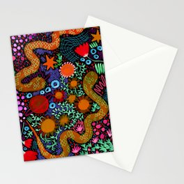 Two Snakes. Just Two Snakes. Stationery Cards