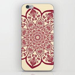 Burgundy & Cream Mandala iPhone Skin
