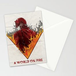 A World on Fire Stationery Cards