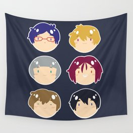 free! ball-faces Wall Tapestry