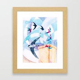 Chimney Divers Framed Art Print