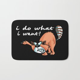 I Do What i Want Angry Funny Cat Bath Mat
