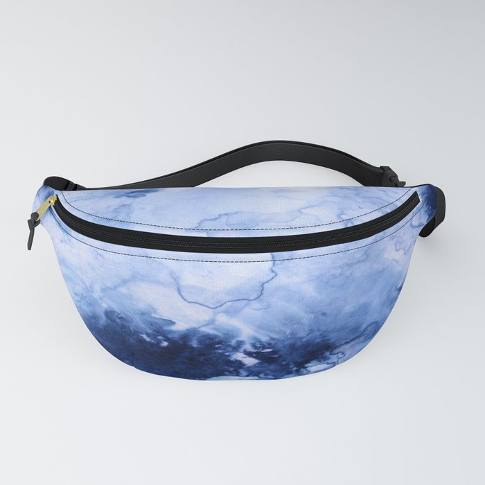 Marbled Water Blue Fanny Pack