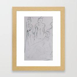 Dibujo Charcoal 1/9 Framed Art Print