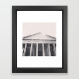 The Pantheon, fine art print, black & white photo, Rome photography, Italy lover, Roman history Framed Art Print