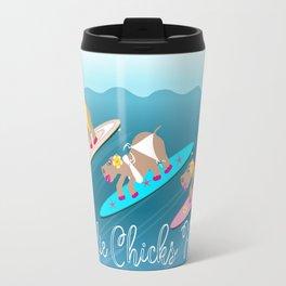 Surfie Chicks Rule Travel Mug