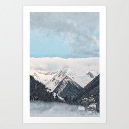 winter scene #society6 #decor #homedecor #buyart Art Print