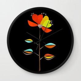 Fantasy . Flower . Love . Wall Clock