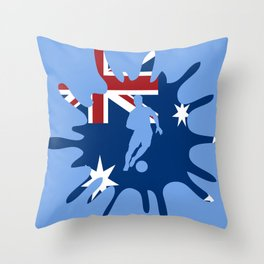 The Flag of Australia II Throw Pillow