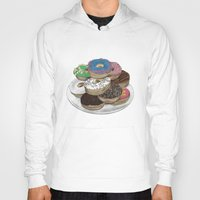 donuts Hoodies featuring Donuts by Sil-la Lopez