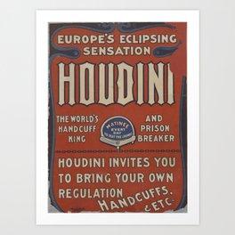 Houdini Type Poster Art Print