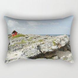 Mexico Beach Shack Hospital Medica Red Cross Nurse Doctor Vacation Island Isla Travel Rectangular Pillow