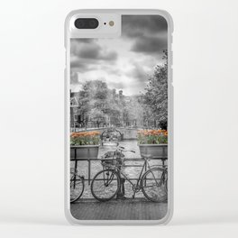 AMSTERDAM Gentlemen's Canal   upright panoramic Clear iPhone Case