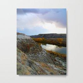 Badlands River, 1 Metal Print