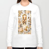 life Long Sleeve T-shirts featuring The Queen of Pentacles by Teagan White